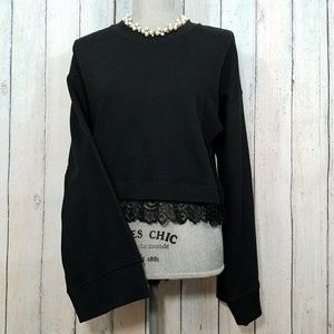 NEW ANTHROPOLOGIE GUEST EDITOR SWEATER WITH LACE